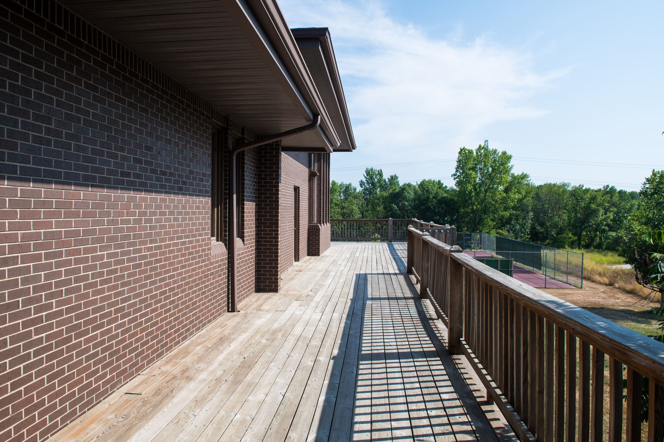 Crown Point Community Center Deck