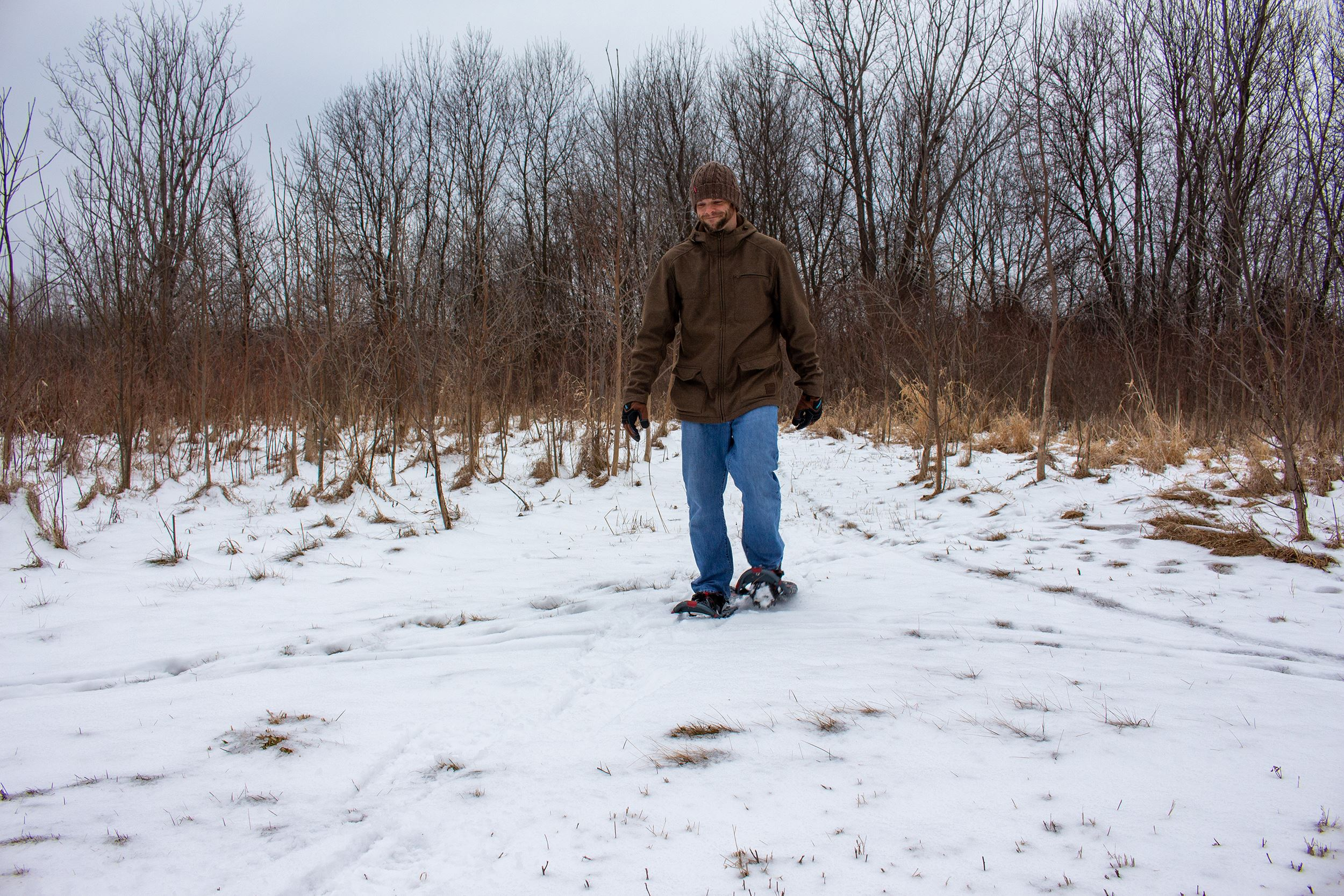 snowshoeing in Beaver Creek Natural Resource Area