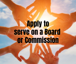 Apply to serve on a Board or Commission_250x210