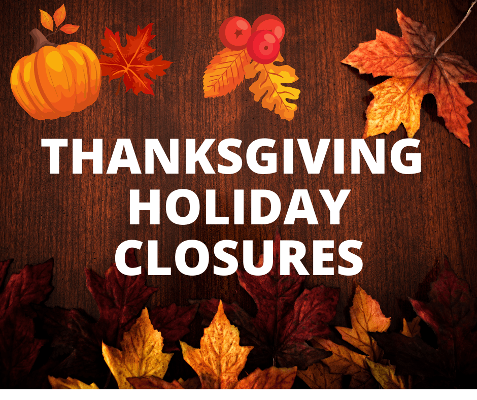 Thanksgiving holiday closures_Facebook