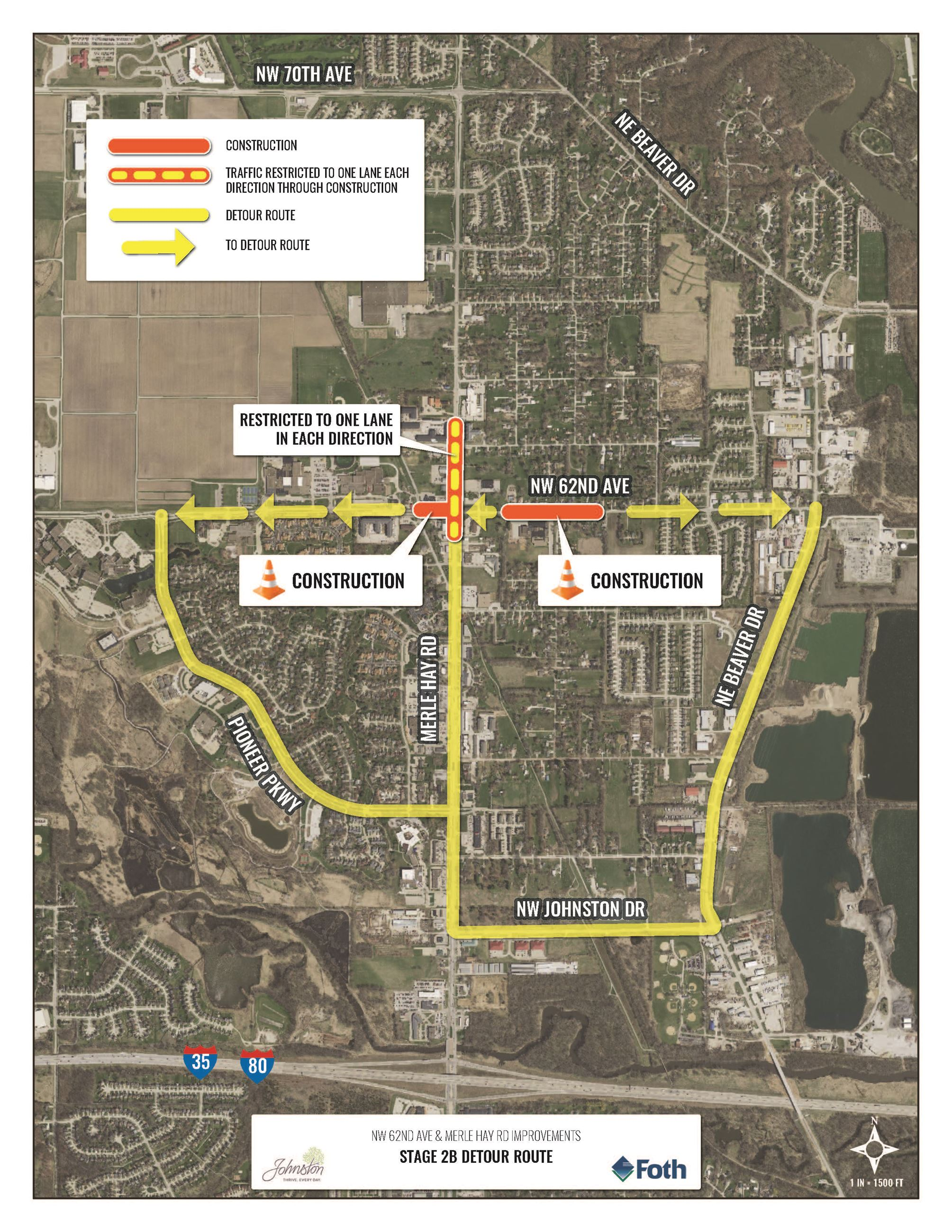 NW 62nd and Merle Hay Overall Stage 2B Detour Map_5.4.20