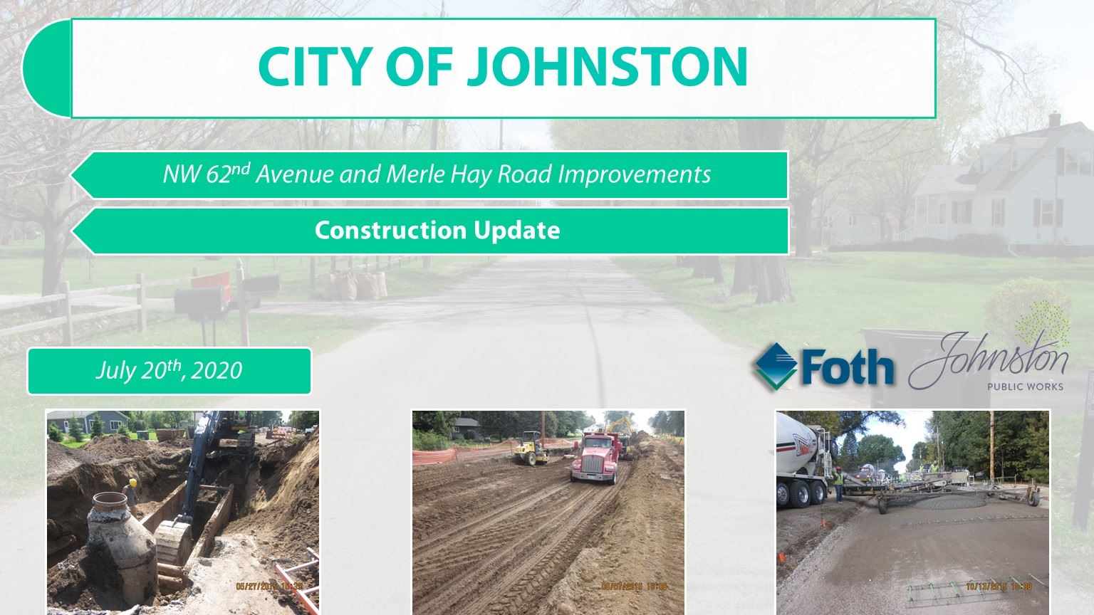 NW 62nd Construction Update